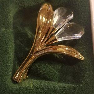Vintage Swarovski Crystal Memories Flower Brooch